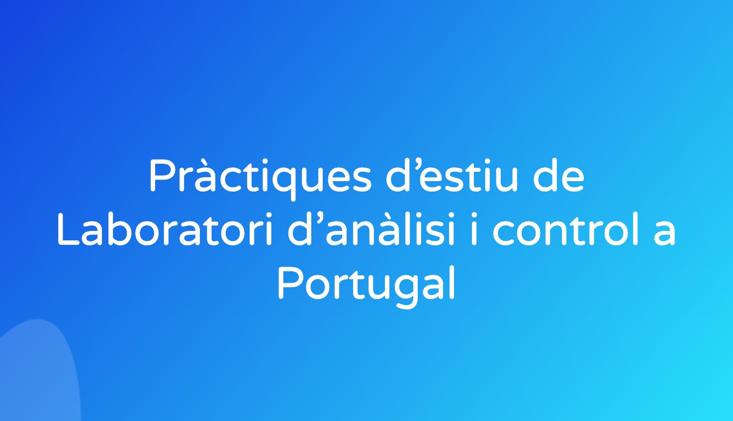 Pràctiques d'estiu de Laboratori d'anàlisi i control a Portugal