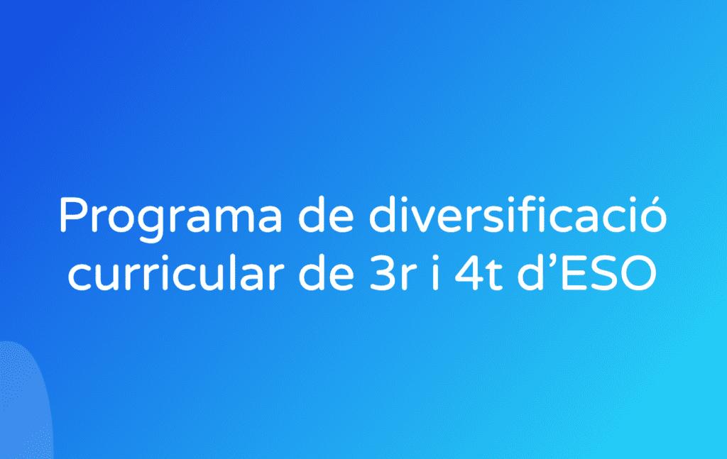 Programa de diversificació curricular